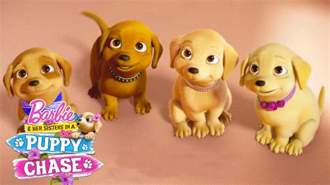 barbie boat movie meet the puppies from barbie her sisters in a puppy