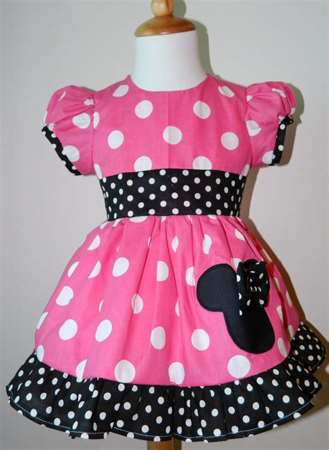 Dress Minny handmade minnie mouse puff sleeves dress 12m to 6y