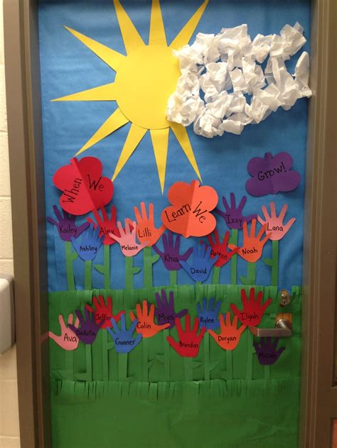 door decorations for spring spring door decoration i made bulletin boards door ideas