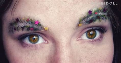 images of christmas eyebrows how many likes for the cool christmas tree eyebrows
