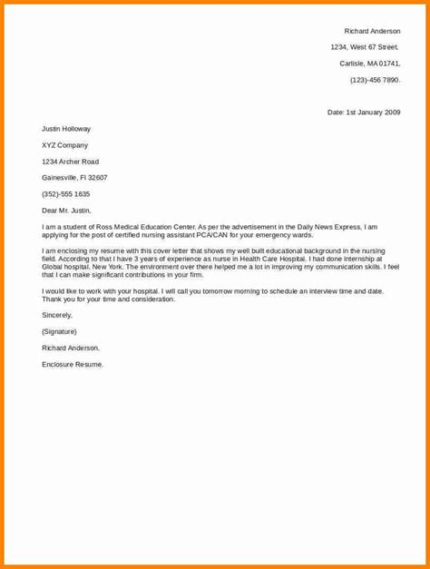 brief cover letter exle 8 cover letter for application resumed