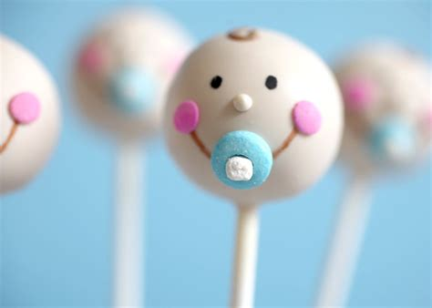Baby Boy Baby Shower Cake Pops by Baby Faces Bakerella