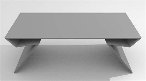 modern table free 3d model obj blend dae cgtrader