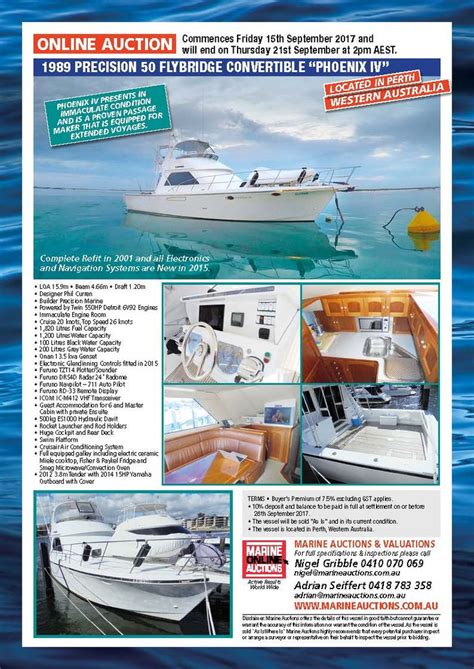 boat auctions in brisbane marine auctions september online auction 1989 precision