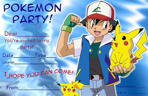birthday rsvp card template pikachu free pikachu birthday invitation template free