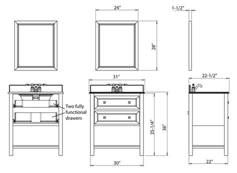 standard bathroom vanity size bathroom vanity base cabinet diions gallery including