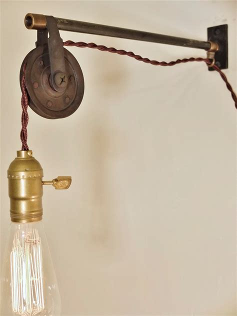 pulley pendant light vintage articulating adjustable rise