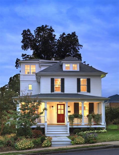 Home Design Story Add Me Four Square Farmhouse Exterior Dc Metro By