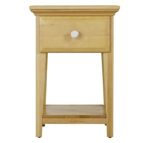 White One Drawer Nightstand One Drawer Nightstand In And White