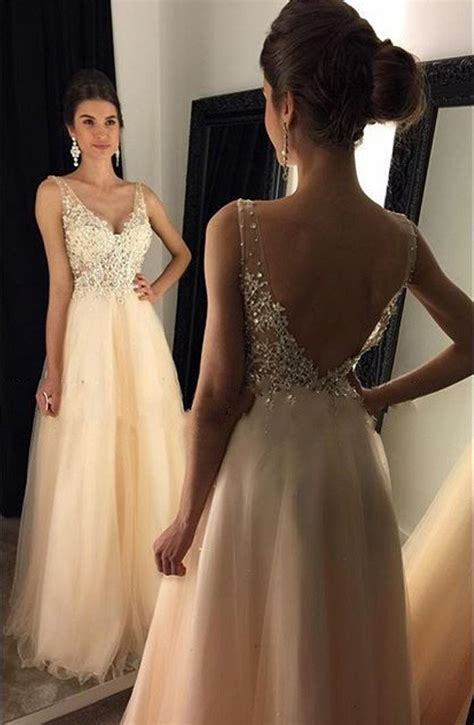 Amazing Prom Dress V Neckline, Graduation Party Dresses