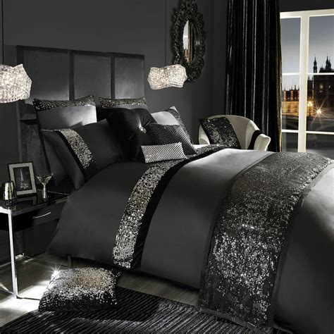 black bedroom comforter sets kylie minogue velvetina black bedding duvet quilt cover cushions or runner ebay