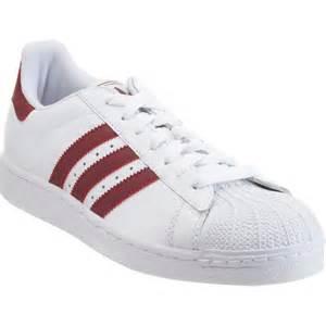 Adidas superstar 2 in white for men burgundy lyst