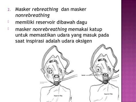 Simple Mask Bh Masker Oksigen Sungkup terapi oksigen 1 akper pemkab muna