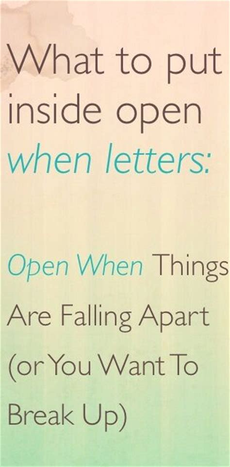 up open letter what to put inside open when letters open when things are