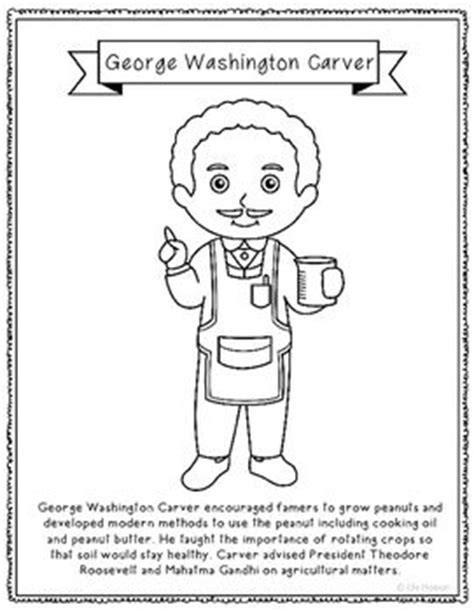 george washington carver coloring page or poster with mini