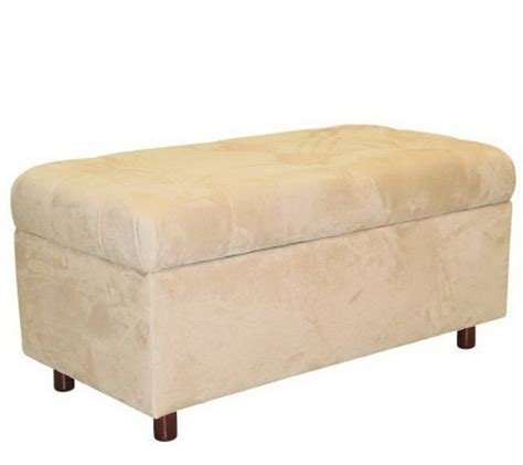 Skyline Furniture Ottoman Skyline Furniture Ultrasuede Storage Ottoman Qvc