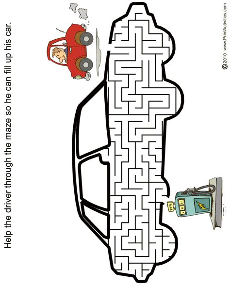 printable car maze car maze free printable car shaped maze