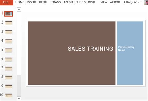 Business Sales Training Template For Powerpoint Certification Template Ppt