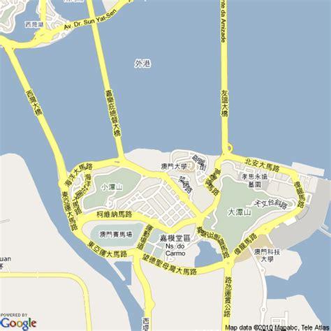 map  macau china hotels accommodation
