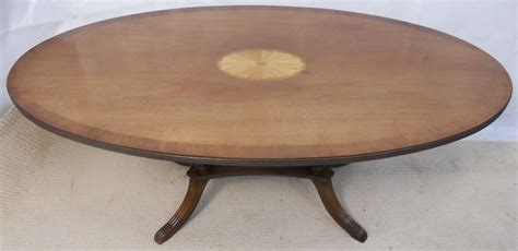 large oval coffee table large oval inlaid mahogany georgian style coffee table by