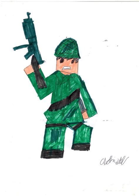 Sketches Roblox Account by Roblox Vintage Soldier Drawing By