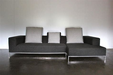 b b italia george sofa b and b italia quot george quot compact l shape sofa in dark grey
