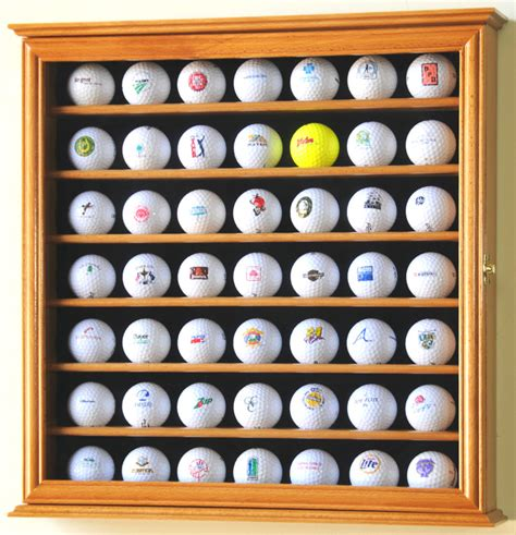 golf ball display cabinets australia pga 49 golf ball display case cabinet wall rack holder w