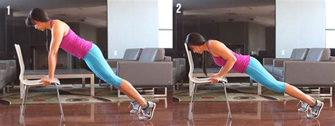 Chair Push Ups by 14 Unique Chair Exercises For The Whole
