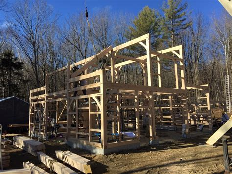 Shed Kits Nh by Raising A Post Beam Kit In New Hshire The Barn Yard