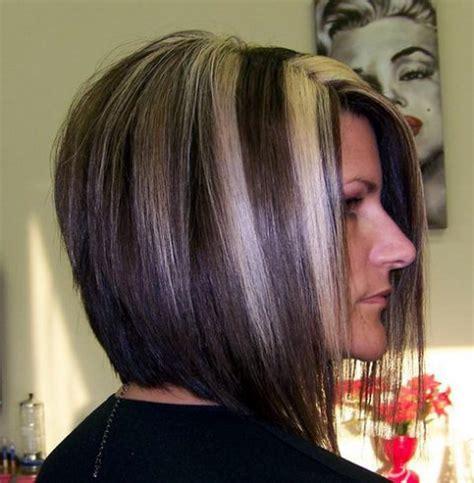 mahogany haircolr with blond highlights stcked bob haircuts tunsori 15