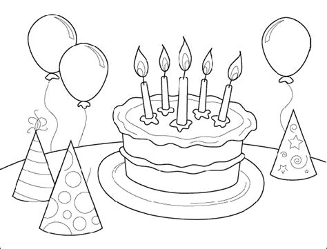 happy birthday coloring pages free printable pictures