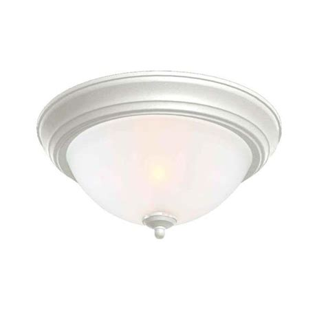 Commercial Electric Lighting Fixtures Commercial Electric 2 Light White Flushmount With Pack Efg8012a Wh The Home Depot
