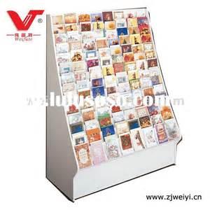 greeting card display rack wood images