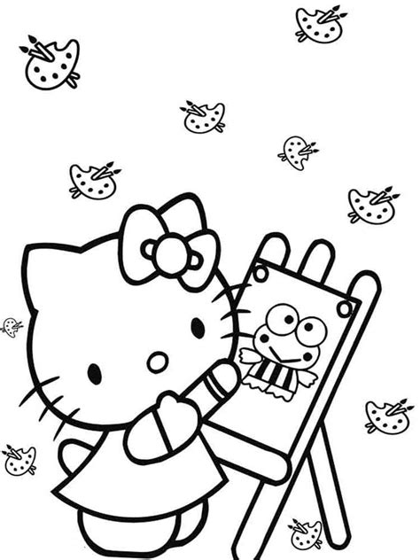 hello kitty bow coloring pages hello kitty bow page coloring pages