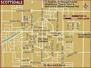 map of arizona scottsdale map of scottsdale