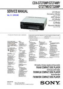 sony cdx gt270mp cdx gt274mp cdx gt277mp cdx gt320mp sm service manual schematics