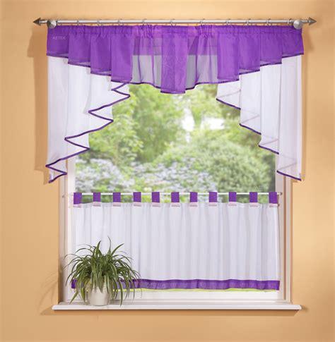 gardinen lila scheiben gardinen set 2 tlg lila ebay
