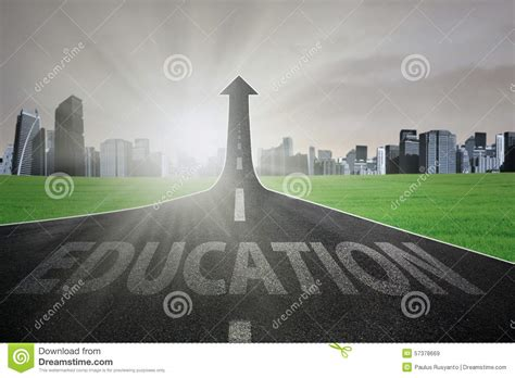 better education highway to get better education stock photo image 57378669
