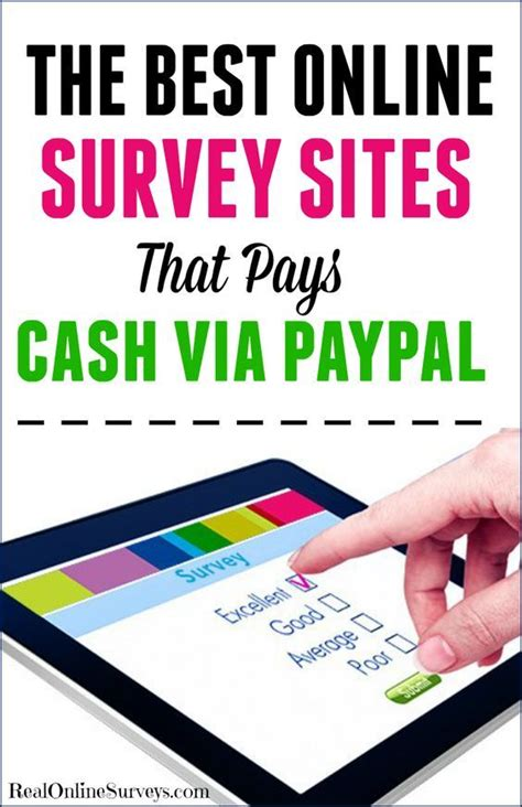 Surveys To Make Money For Paypal - 1000 ideas about online surveys that pay on pinterest
