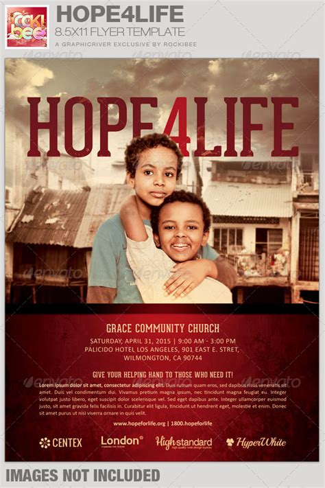 Attractive Church Flyers Samples #2: Hope4Life-Charity-Event-Flyer-Template-Image-Preview.jpg