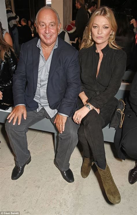 Kate Moss Shows Us Topshop Goodies In Store Today by Sir Philip Cosies Up To Kate Moss At Topshop S Lfw Show