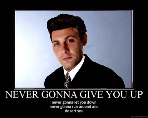 Rick Astley Never Gonna Give You Up Meme - luke wright swanning about