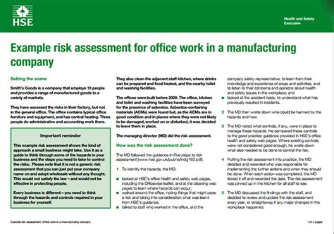 manufacturing risk assessment template events sle risk analysis template