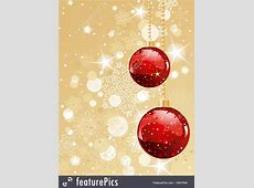 Illustration Of Red Christmas Decorations On Gold Free Holiday Banner Clip Art