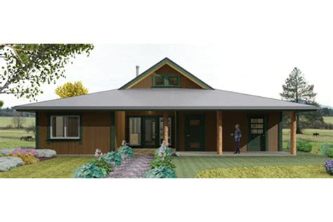 Duplex House Plans With Garage by Plano De Casa Country Y Moderna De 3 Dormitorios Y 1 Piso