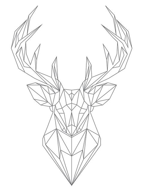 25 trending geometric deer ideas on pinterest geometric