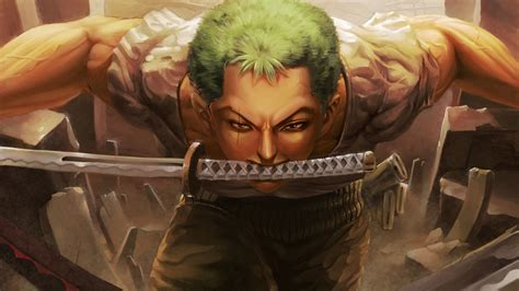 piece roronoa zoro keeping  sword  mouth  hd