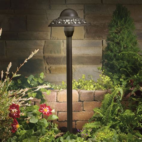 Outdoor Garden Lights 12v Kichler 15457azt 12v Landscape Pierced Dome Path Light