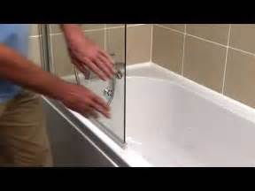 Shower Bath Screen Seal How To Replace An Over Bath Screen Seal Youtube
