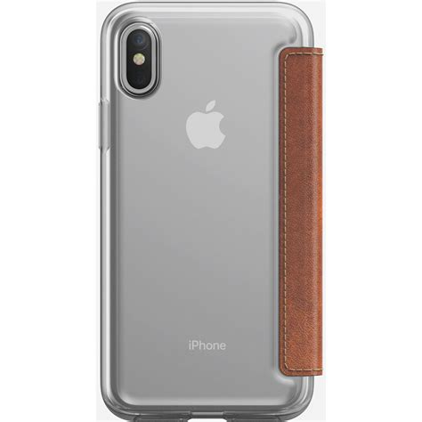 Nomad Clear For Iphone X Brown Original nomad clear folio for iphone x rustic brown nm218r0300